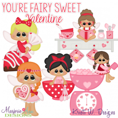 Sweetheart Baking Fairies SVG Cutting Files + Clipart