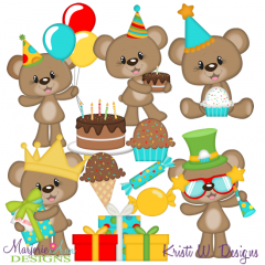 Bently's First Birthday SVG Cutting Files Includes Clipart