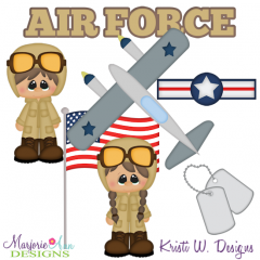 Air Force SVG Cutting Files + Clipart