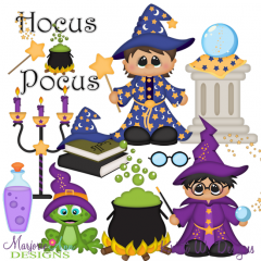 Hocus Pocus SVG Cutting Files + Clipart