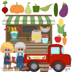 Farmer's Market SVG Cutting Files Includes Clipart