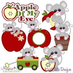 Apple Of My Eye SVG Cutting Files + Clipart