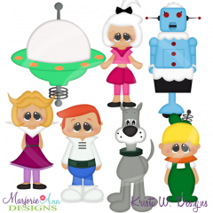 Space Family SVG Cutting Files Includes Clipart
