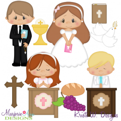 My 1st Communion SVG Cutting Files Includes Clipart