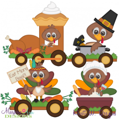 Turkey Train SVG Cutting Files Includes Clipart