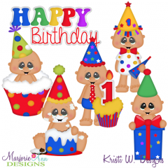 Cake Smash Birthday Boy SVG Cutting Files Includes Clipart