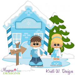Frostys Ice Skating Park SVG Cutting Files Includes Clipart