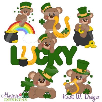 Brownie Feels Lucky SVG Cutting Files+Clipart