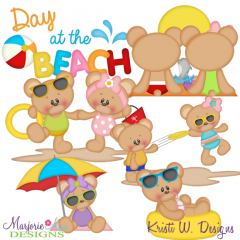 Beach Day Fun SVG Cutting Files Includes Clipart