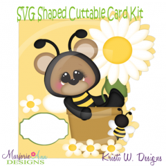 Bee Happy~Shaped SVG/MTC Card Kit/Cutting File