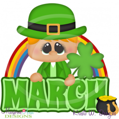 March Title SVG Cutting Files Includes Clipart