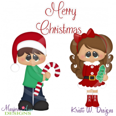 Holiday Kids~Christmas SVG Cutting Files Includes Clipart
