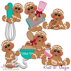 Baking Fun Gingers SVG Cutting Files Includes Clipart