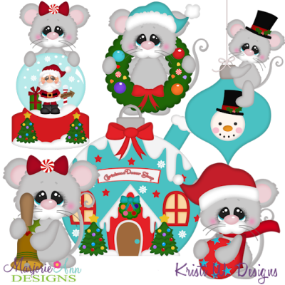 Christmas Village Decor Shop SVG Cutting Files Includes Clipart