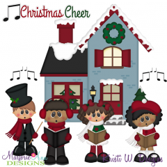 Christmas Caroling SVG Cutting Files + Clipart