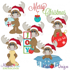 Christmas Moose SVG Cutting Files + Clipart