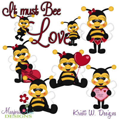 Bee Mine SVG Cutting Files Includes Clipart
