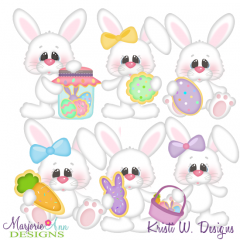 Easter Cookie Fun SVG Cutting Files + Clipart