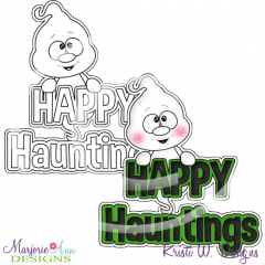Happy Hauntings Digital Stamp + Clipart