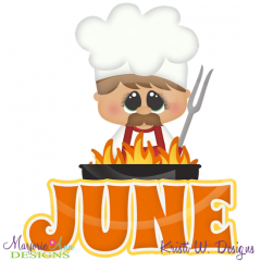 June Title SVG Cutting Files Includes Clipart