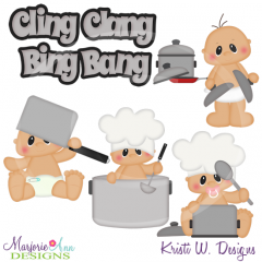 Cling Clang Bing Bang SVG Cutting Files Includes Clipart