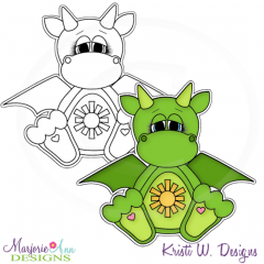 Dragon Digital Stamp + Clipart