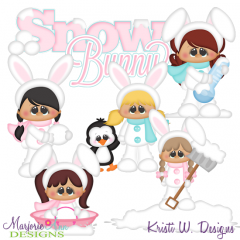 Snow Bunnies SVG Cutting Files Includes Clipart