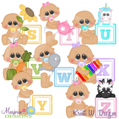Alphabet Baby~S-Z SVG Cutting Files Includes Clipart