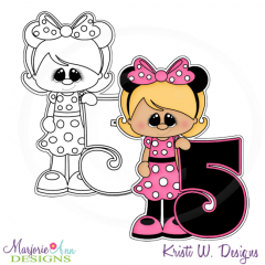 A Very Minnie 5th Birthday Exclusive Digital Stamp + Clipart