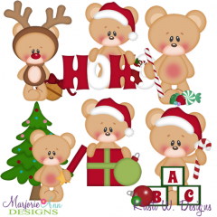 12 Bears Of Christmas-Set 2 SVG Cutting Files Includes Clipart