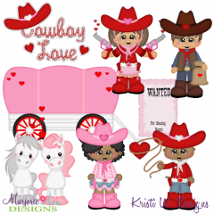 Cowboy Love SVG Cutting Files Includes Clipart