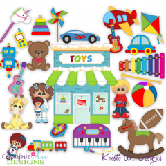 Winter Village~Toy Store SVG Cutting Files + Clipart