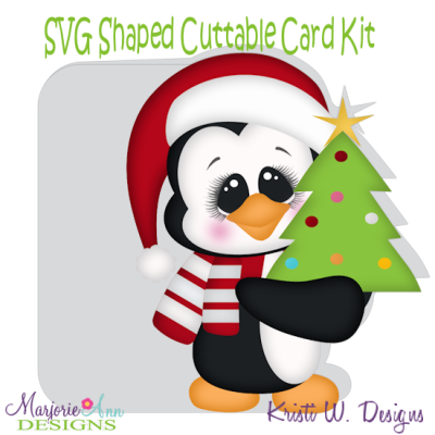 Holiday Penguin~Shaped SVG/MTC Card Kit/Cutting File