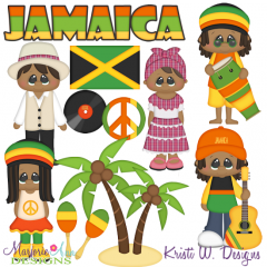 Kids Around The World-Jamaica SVG Cutting Files Includes Clipart