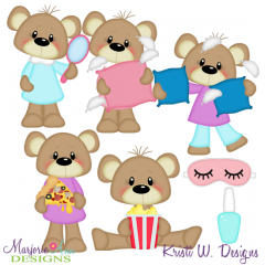 Slumber Party Exclusive SVG Cutting Files + Clipart