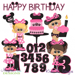 A Very Minnie Birthday SVG Exclusive Cutting Files + Clipart
