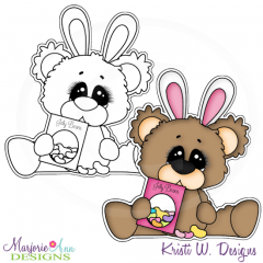 Beary Happy Easter 5 Exclusive Digital Stamp + Clipart