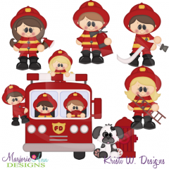 When I Grow Up~Fireman SVG Cutting Files+Clipart