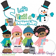 Let's Build A Snowman SVG Cutting Files Includes Clipart