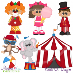 Circus Fun ONE Cutting Files-Includes Clipart
