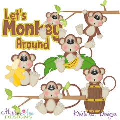 Let's Monkey Around Exclusive SVG Cutting Files + Clipart