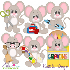 Ted Goes To Kindergarten SVG Cutting Files Includes Clipart