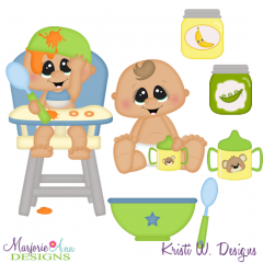 Time To Eat-Baby Boy SVG Cutting Files Includes Clipart