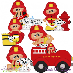 Little Fireman SVG Cutting Files + Clipart