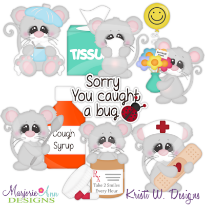 Get Well Wishes Cutting Files Includes Clipart