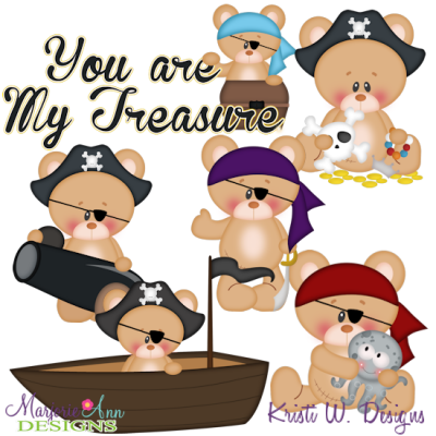 You Are My Treasure SVG Cutting Files Includes Clipart