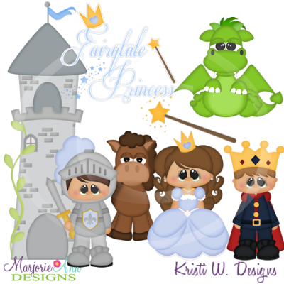 Fairytale Princess SVG Cutting Files Includes Clipart
