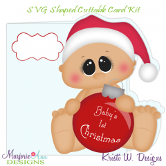 Baby's First Christmas~Shaped SVG/MTC Card Kit/Cutting File