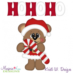 Santa Bear SVG Cutting Files Includes Clipart