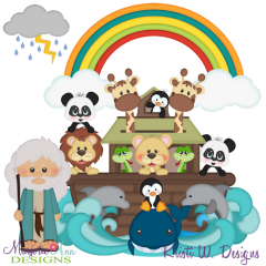 Noah's Ark SVG Cutting Files + Clipart